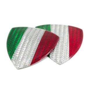 Abarth 500 Alfa Romeo Koshi Emblem Carbon Tricolore Schildförmig