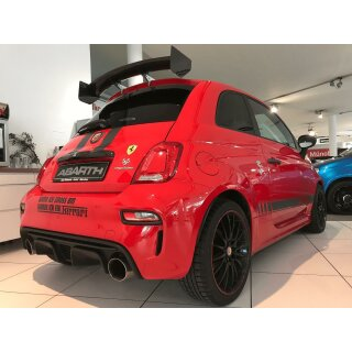 Abarth 500 Koshi Heckflügel Assetto Corse Style Carbon
