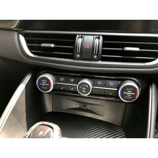 Alfa Romeo Giulia Koshi AC-Klimabedienteil Rahmen Carbon