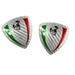 Abarth 500 Koshi Emblem Carbon Italian Scorpion Schildförmig