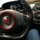 Alfa Romeo 4C Koshi Lenkrad Badge schwarz Carbon