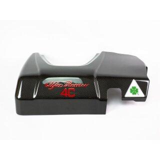 Alfa Romeo 4C Quadrifoglio Verde Koshi Motorabdeckung schwarz Carbon