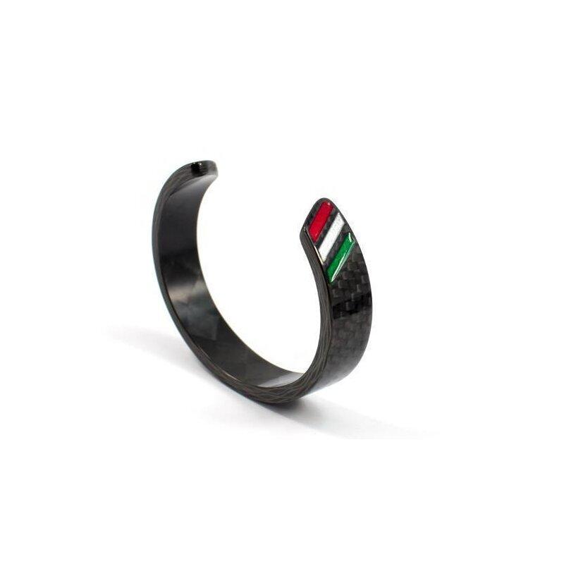 koshi armband carbon schwarz italian stripe