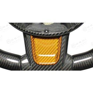 Abarth 595 Koshi Lenkrad unteres Inlay gelb Carbon