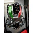 Alfa Romeo Giulia Koshi Schaltkulissencover Tricolore Carbon