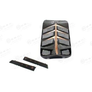 Harley Davidson V-ROD Koshi zentraler Kühlerrahmen pink gold Carbon