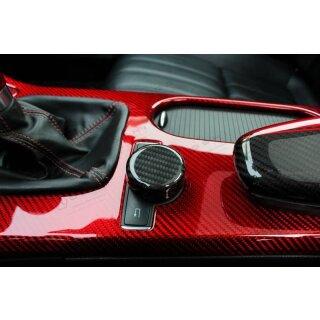 Mercedes Benz SLK R172 Koshi Mittelkonsole Wählradcover Carbon