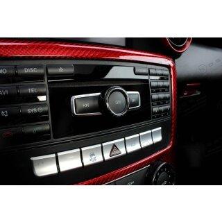 Mercedes Benz SLK R172 Koshi Lautstärkenregler Cover Carbon
