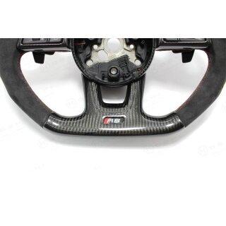 Audi RS3 RS4 Koshi Lenkradcover unten Carbon