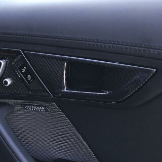 Jaguar F-Type Koshi Innentürgriffcover Carbon
