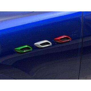 Maserati Levante Koshi Kotflügel Lufteinlasscover tricolore Carbon