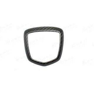 Abarth 595 Koshi Emblemcover hinten matt schwarz Carbon