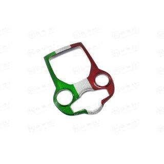 Alfa Romeo Giulia Koshi zentralteil Mittelkonsolencover tricolore Carbon