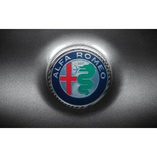 Alfa Romeo Giulia Koshi Emblemcover hinten Carbon
