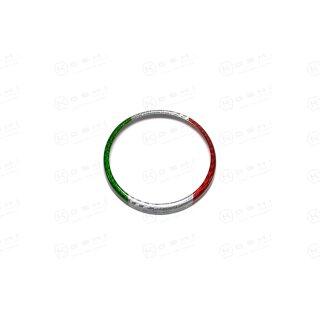 Alfa Romeo Giulia Koshi Emblemcover hinten tricolore Carbon