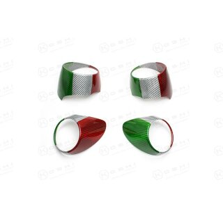 Alfa Romeo Giulia Koshi Lüftungsdüsencover Kit tricolore Carbon