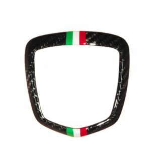 Abarth 595 Koshi Emblemcover hinten Tricolore Carbon