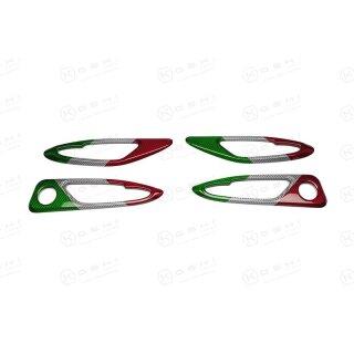Alfa Romeo Giulia Koshi Innentürgriffrahmen Cover tricolore Carbon