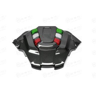 Alfa Romeo Giulia Stelvio QV Koshi Motorabdeckung Carbon Tricolore